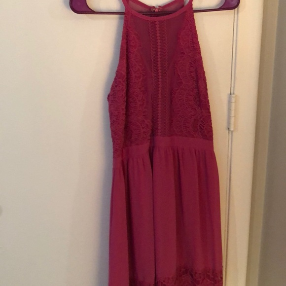 Francesca's Collections Dresses & Skirts - Francesca's pink high neck occasion dress